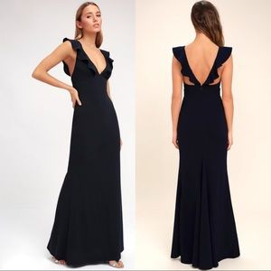 """Lulu's """"Perfect Opportunity"""" Navy Maxi Dress"""